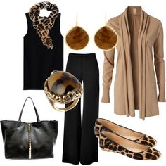 Koleksi wardrobe kapsul yang merangkumi gaya trendy leopard print dan disuaipadankan dengan mood klasik