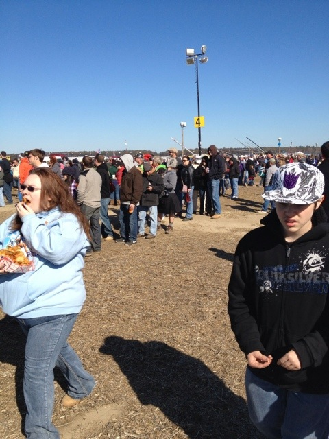 Line for restroom at punkin chunkin