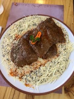 Quinoa with beef