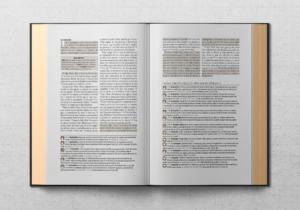 El índice lo llevará al primer versículo en una cadena de un tema en particular. Un breve comentario, y la referencia al segundo pasaje de la cadena de cuatro o cinco versículos.