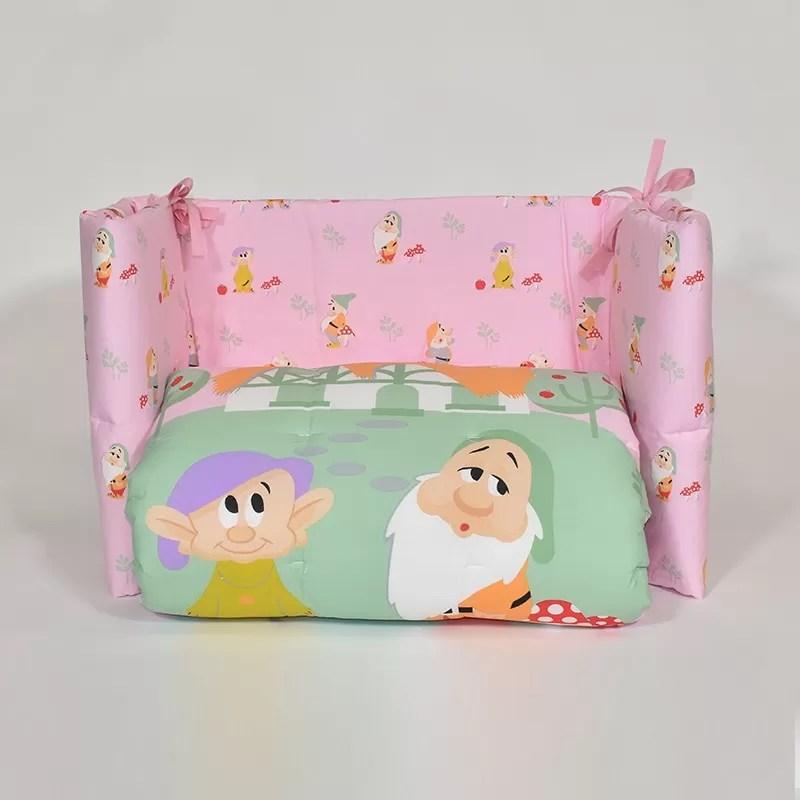 "Completo lettino 4 pz unisex ""winnie the pooh"". Nanetti Trapunta E Paracolpi Lettino Disney By Caleffi Variante Rosa"