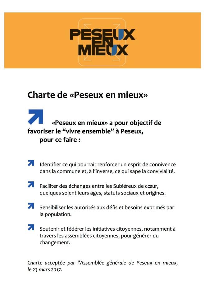 Charte de Peseux en mieux