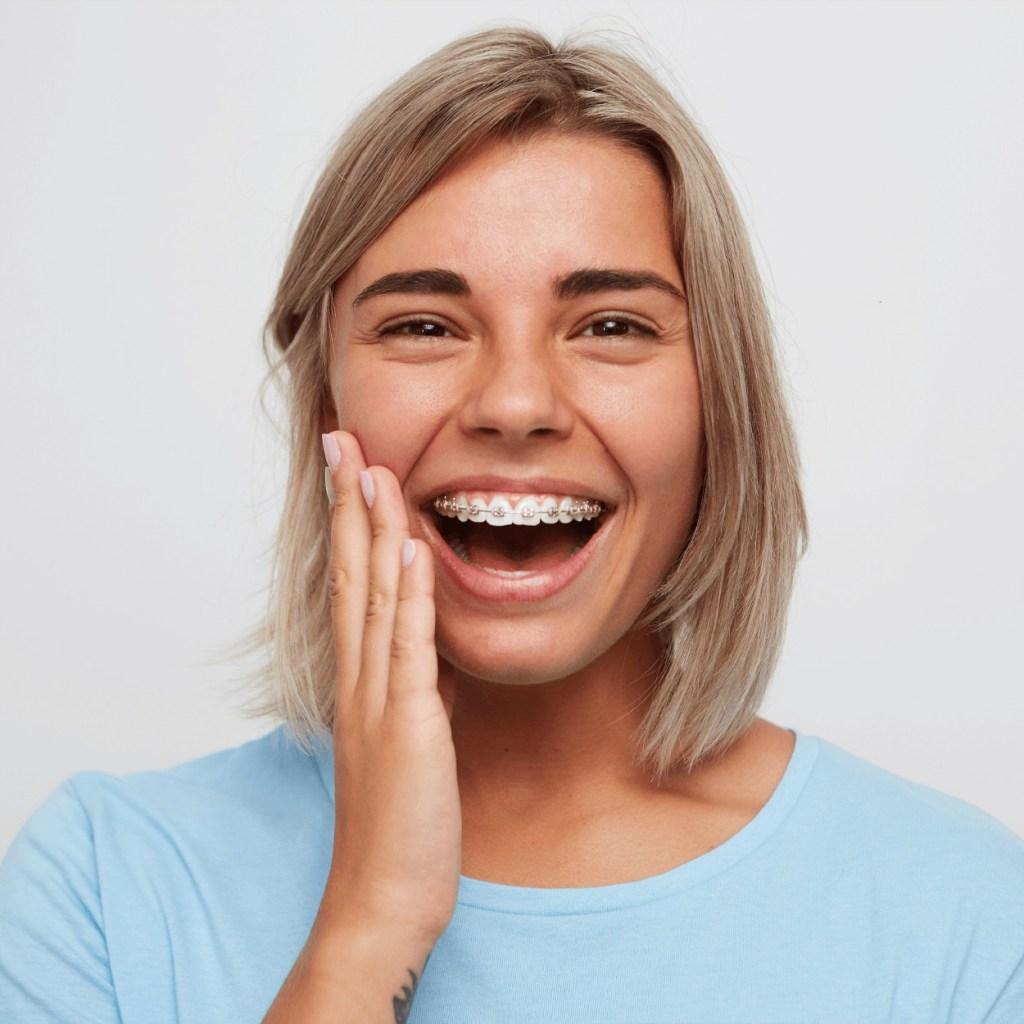 Brace Teeth Girl Smiling Portrait
