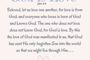 """God is Love"" ~Good Friday 3/16"