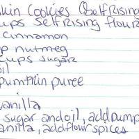 Pumpkin Cookies (Self-Rising Flour)