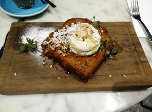 The best banana bread in Brisbane :-D at Brisbane Cafe