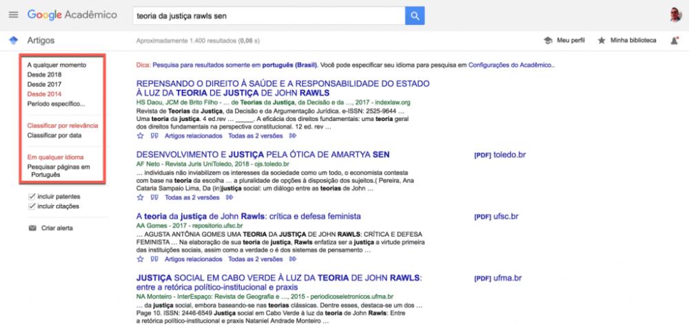 Google Acadêmico e suas referências bibliográficas