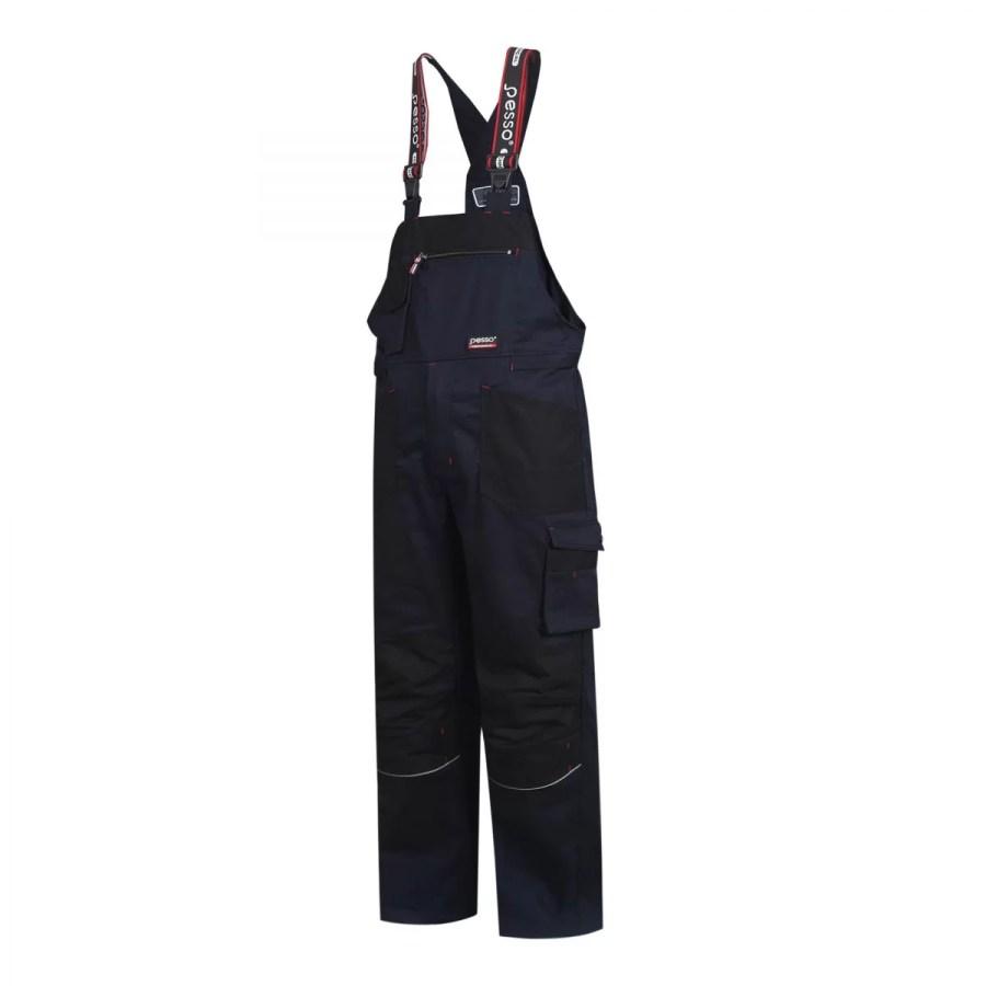 Workwear Bibpants Pesso Twill Stretch 215, navy pessosafety.eu