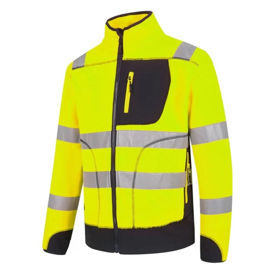 High visibility Fleece sweater Pesso Fl02 yellow pessosafety.eu