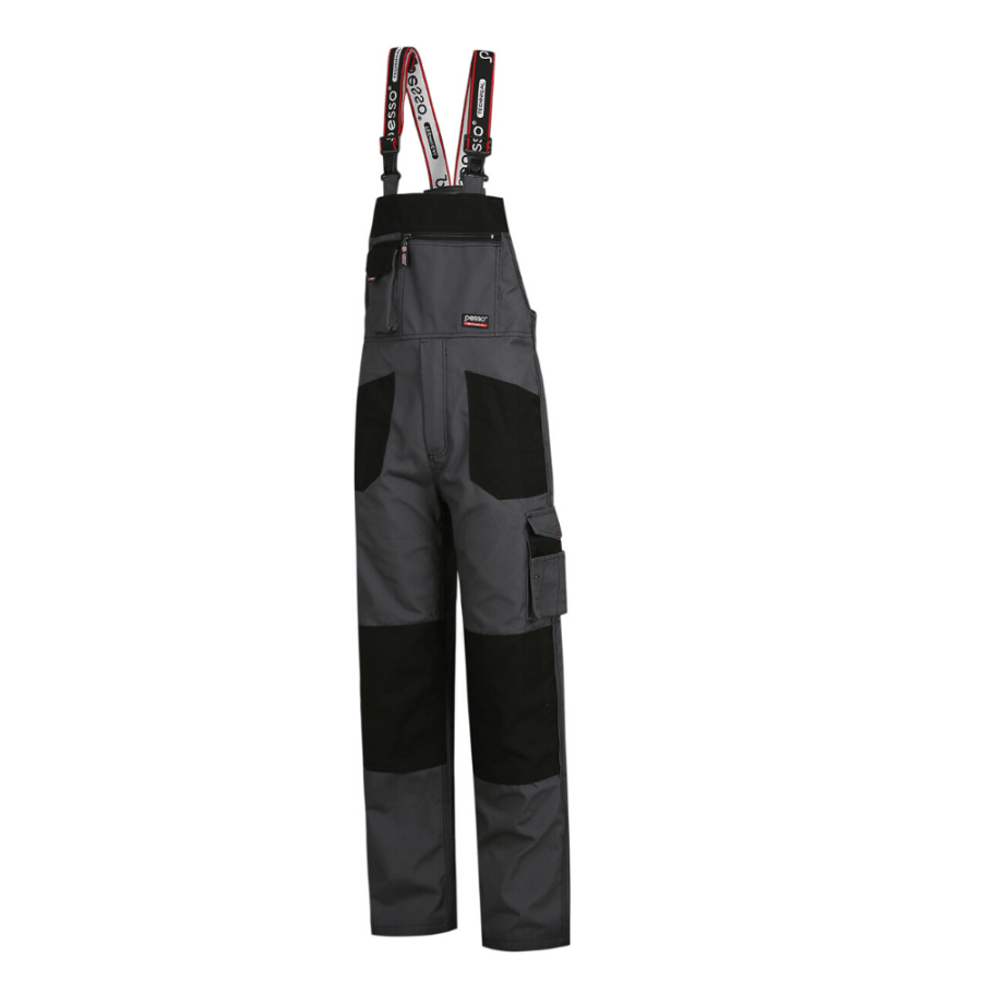 Workwear bibpants Pesso Canvas DPCP grey pessosafety.eu