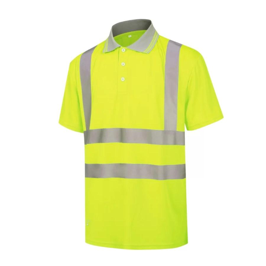 High visibility Polo Shirt Pesso HVP, yellow EN20471 Class 2 pessosafety.eu