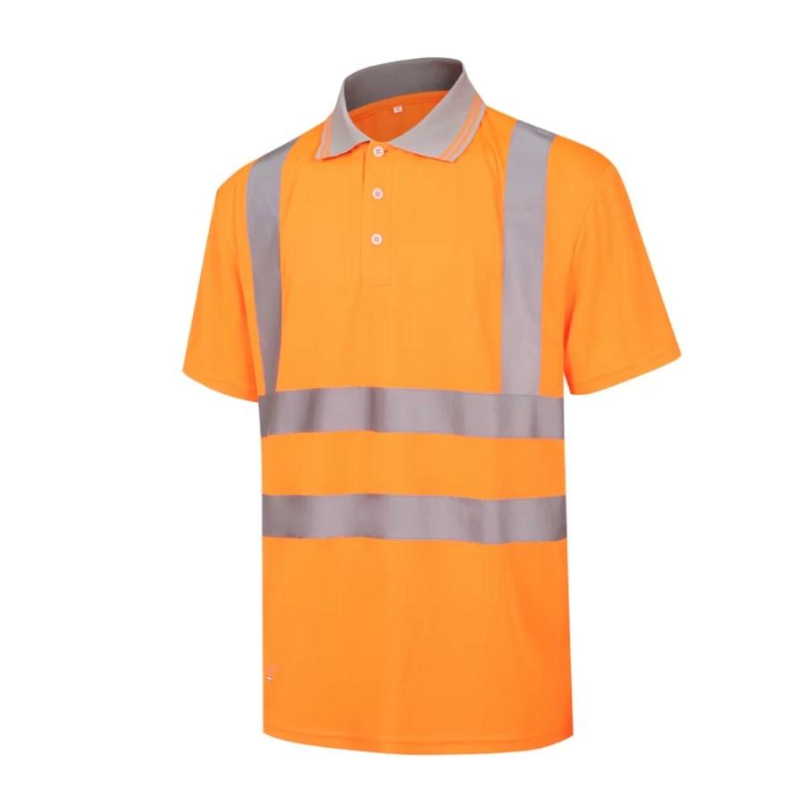 High visibility Polo Shirt Pesso HVP, orange EN20471 Class 2 pessosafety.eu