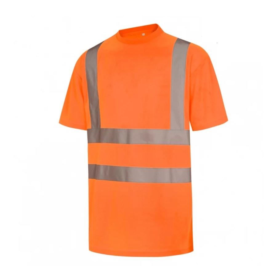 High visibility T-Shirt Pesso HVM, orange En20471 Class 2 pessosafety.eu