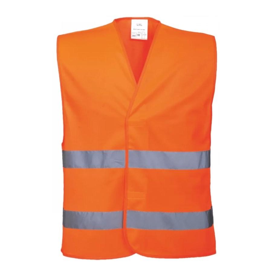 High visibility two band & brace vest Pesso LS-RSV001_G, orange EN20471 Class 2 pessosafety.eu
