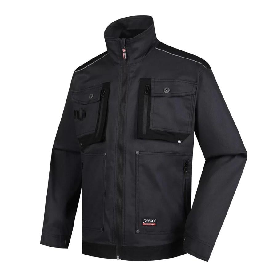 Workwear jacket Pesso Stretch, grey pessosafety.eu