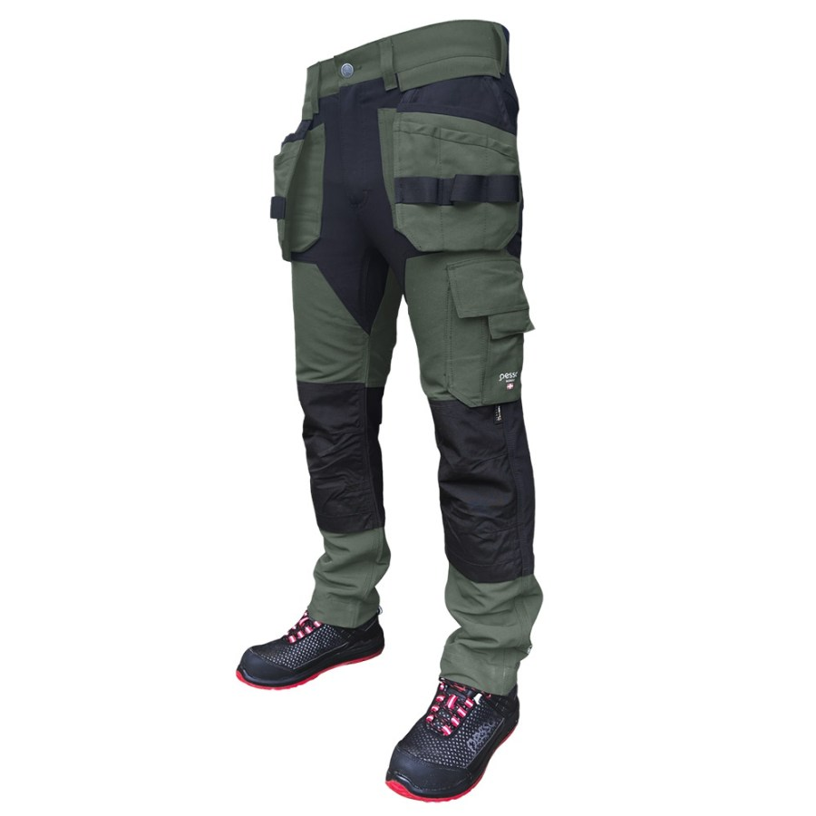 Workwear trousers Pesso Titan Flexpro, green | pessosafety.eu