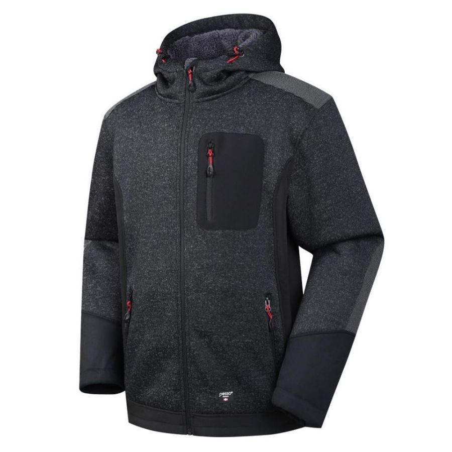 Warm Fleece sweater Pesso Nordic Oregon, black pessosafety.eu