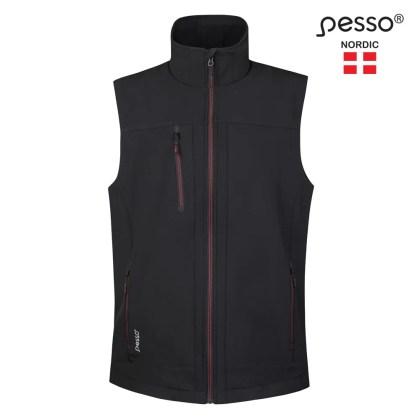 Softshell vest Pesso SOFTBLACK | Pesso workwear | pessosafety.eu