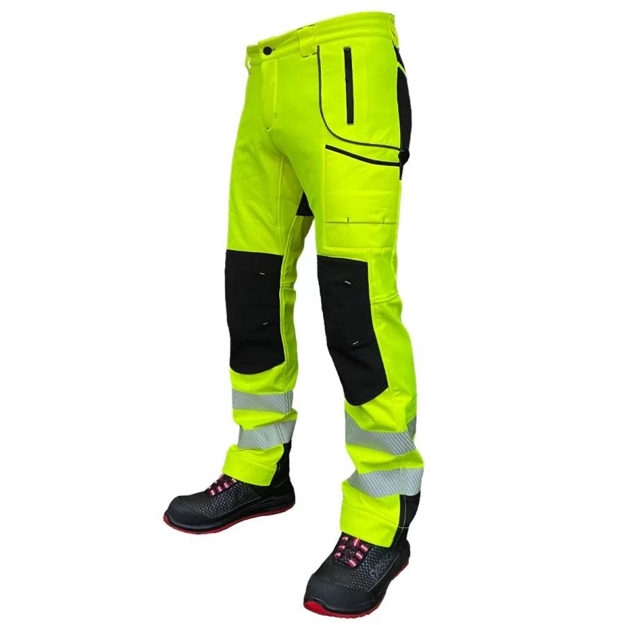 Softshell Pants Pesso Nordic Nebraska HI VIS yellow | pessosafety.eu
