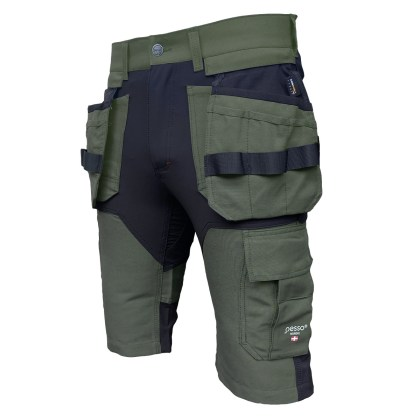 Workwear shorts Pesso Titan Flexpro, green Pesso workwear pessosafet..eu