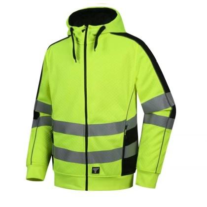 High visibility Jacket Pesso FL05 Yellow Pesso workwear Pessosafety.eu