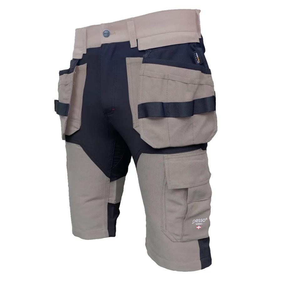 Workwear shorts Pesso Titan Flexpro 125 beige Pesso workwear pessosafety.eu