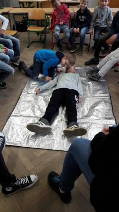 Überprüfung der Atmung bei einer bewusstlosen Person