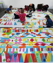 Aztec Paper Mosaic Workshop, The Big Idea Family Day, Tramway, Glasgow, May 2013