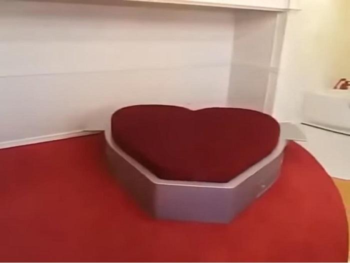 """Képtalálat a következőre: """"szív alakú ágy"""""""