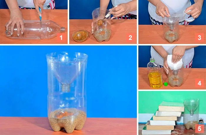5-steps DIY soda bottle mouse trap