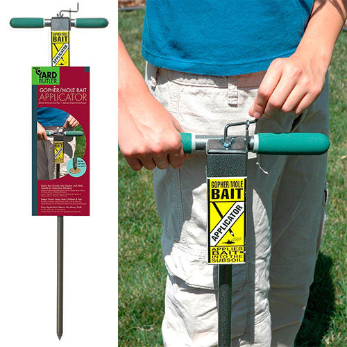 Mole bait applicator