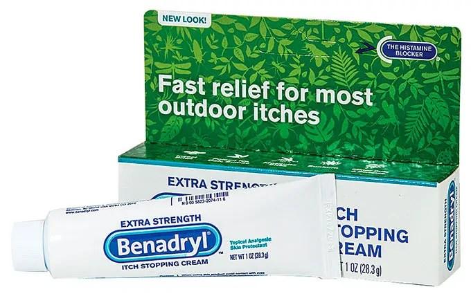Benadryl anti-itching cream