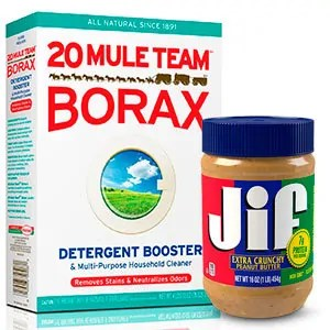 Borax and peanut butter
