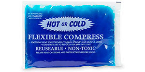 Hot and cold flexible compress
