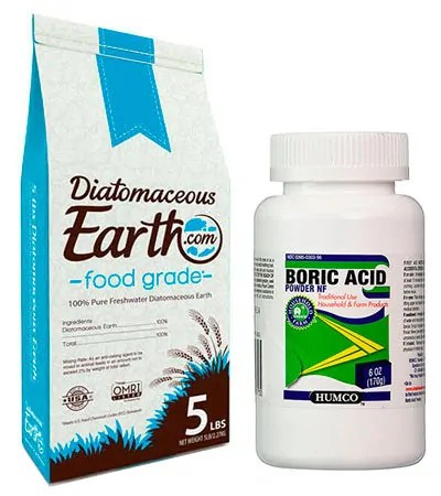Diatomaceous Earth and Boric Acid