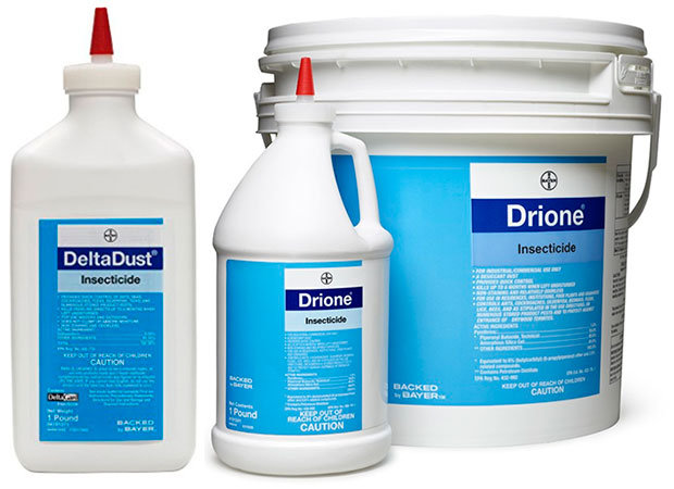 DeltaDust and Drione Insecticide