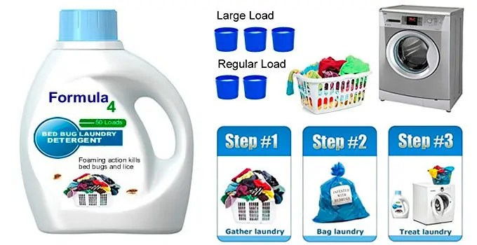 Formula 4 Bed Bug Laundry Detergent