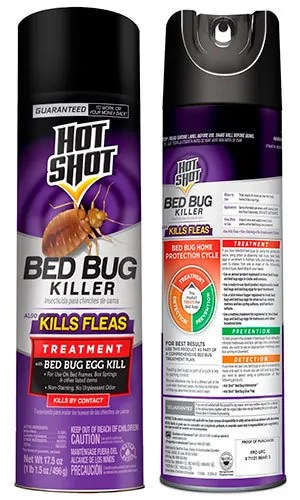 Bed bug killer spray by Hot Shot