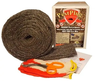 PestPlug Steel Wool Kit to prevent pests