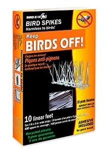 Plastic bird spikes kit