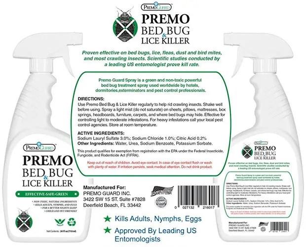 Bed Bug & Lice Killer by PremoGuard