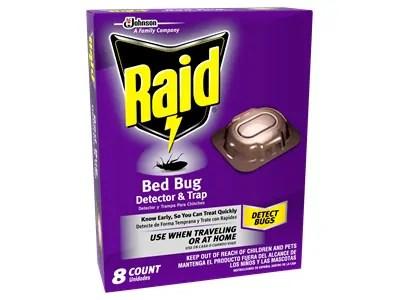 Raid bedbug traps