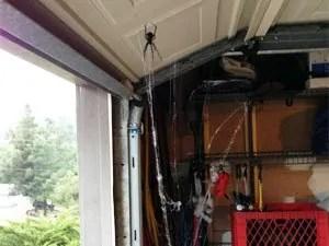 Black widow spider in garage