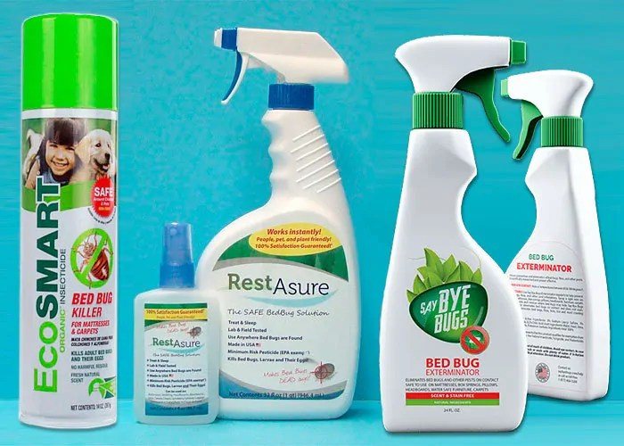 EcoSmart, RestAsure and SayByeBugs Sprays