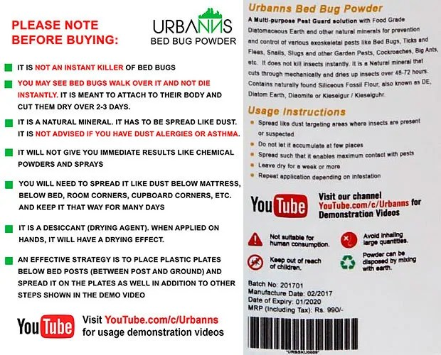Urbanns instructions