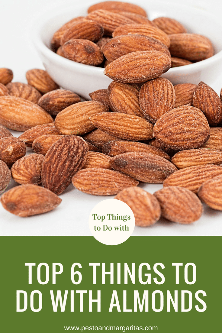 Almonds are a common nut that are used in lots of different ways.  Here are six ideas of what to do with almonds as well as a look at the health benefits from them.  Click to read more