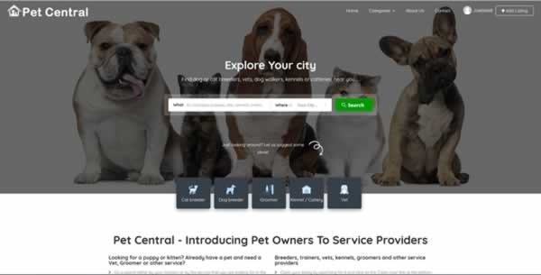Pet Central Homepage