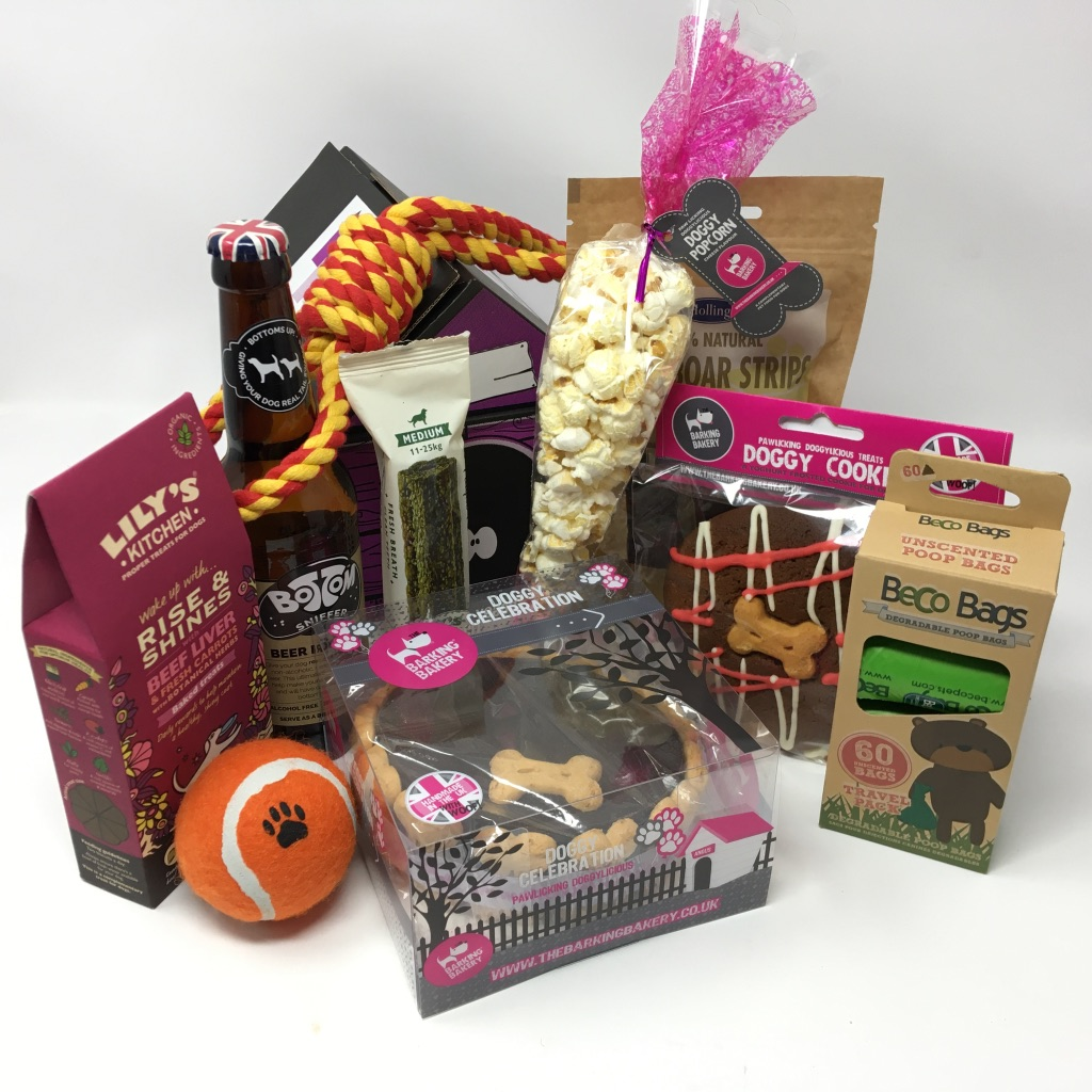 Excellent The Birthday Cake Gift Hamper For Dogs With Dog Beer Pet Presents Personalised Birthday Cards Veneteletsinfo