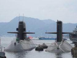 呉基地の海上自衛隊の潜水艦