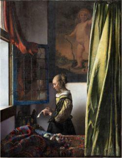 ヨハネス・フェルメール「窓辺で手紙を読む女」修復後